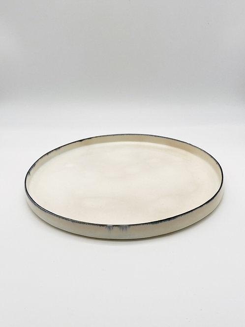 平皿 L ブルー皮鯨