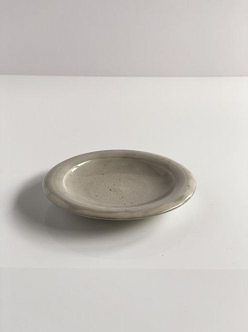 Rim Plate S Gray Crackle