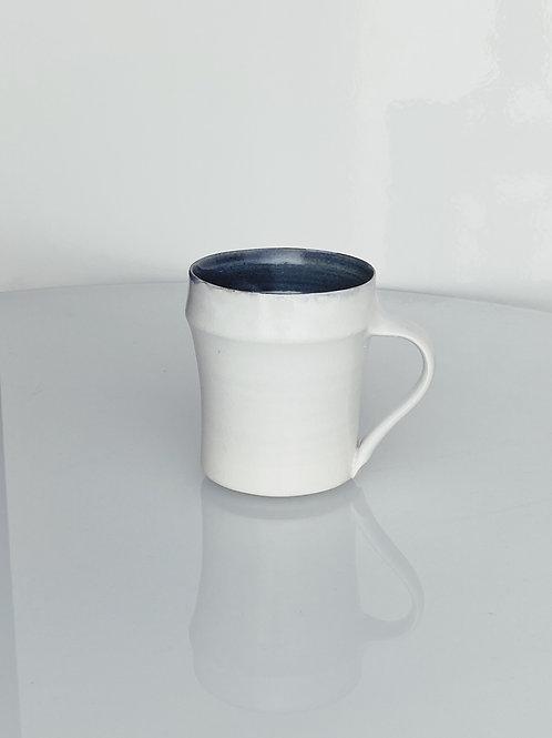 Tall Bamboo Mug White/Blue Jeans
