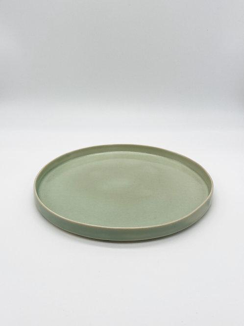 平皿 M 緑青磁
