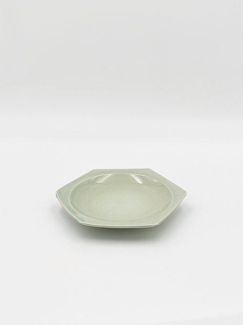 ハニカム 皿 M 緑青磁