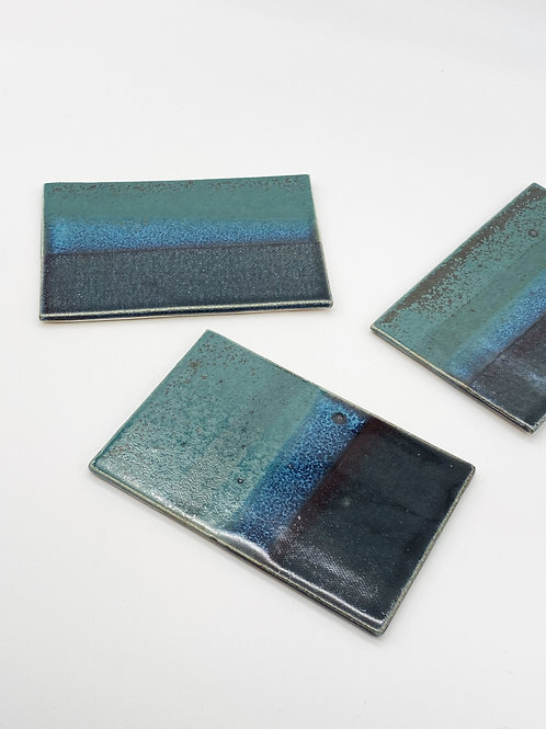 Rectangle Sweets Plate Green/Blue Jeans