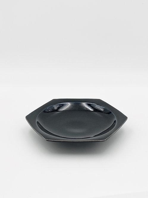 ハニカム皿 L ダークブルー
