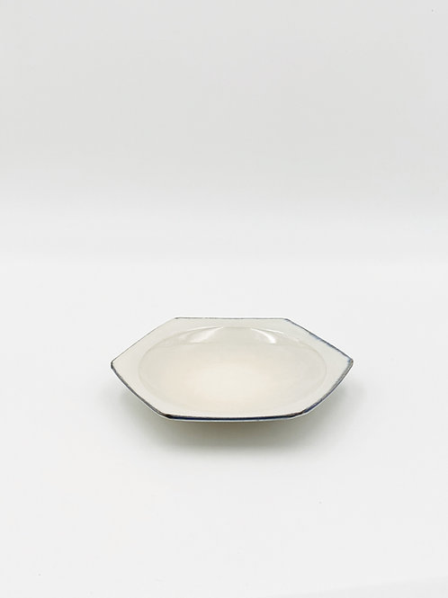 Honeycomb Plate M Blue Rim