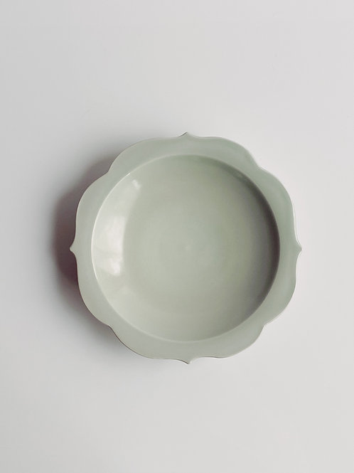 Chakra Plate M Sage Celadon