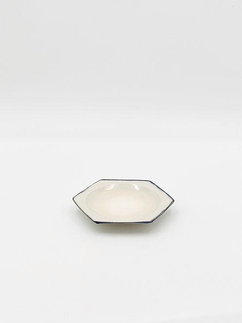 Honeycomb Plate S Blue Rim