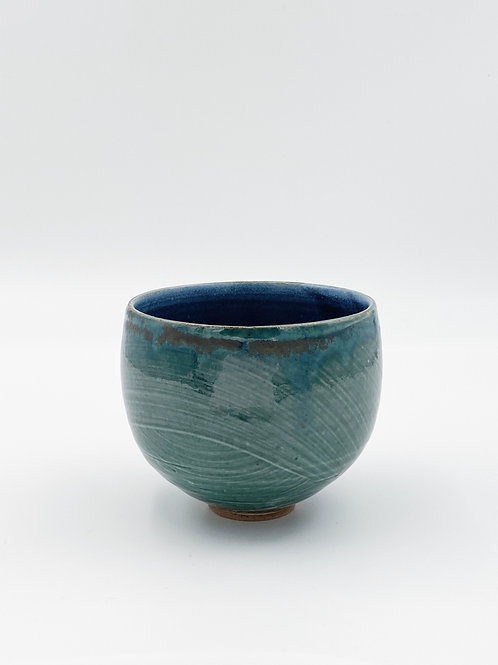 Round Bowl Green/Blue Jeans