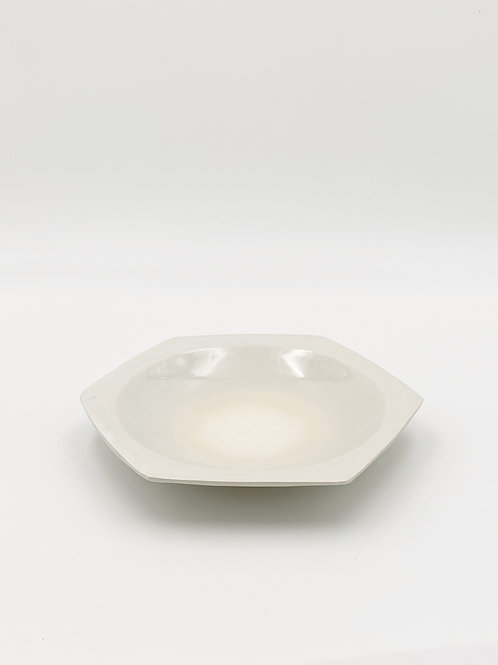 Honeycomb Plate L White