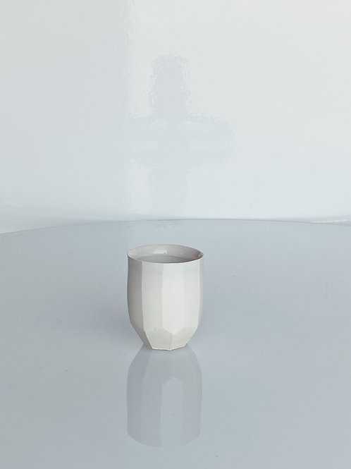 Faceted Whiskey Cup White