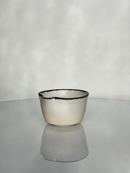 Cereal Bowl Blue Rim