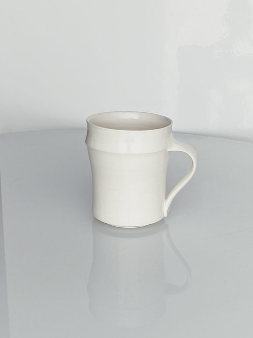 Tall Bamboo Mug White
