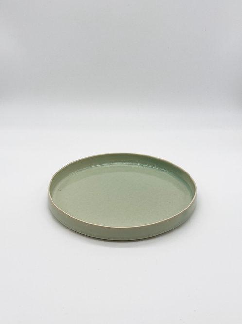 平皿 S 緑青磁