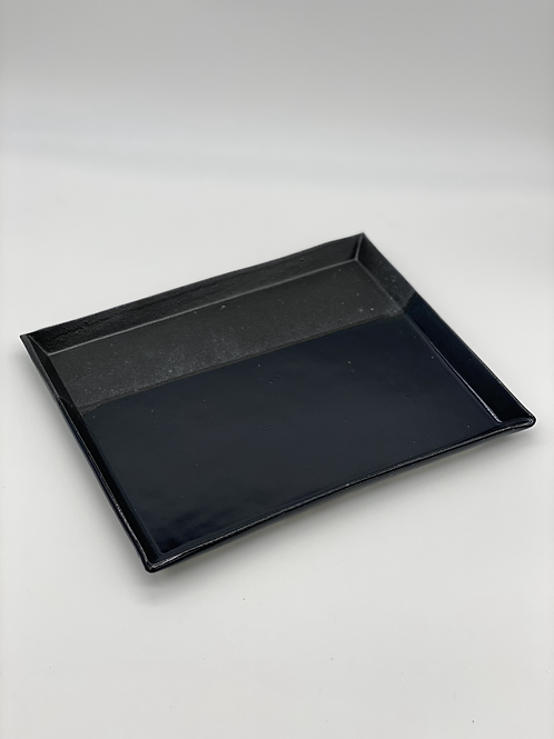 長方皿 21cm x 27cm ブラック / ダークブルー