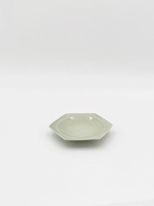 ハニカム 皿 S 緑青磁