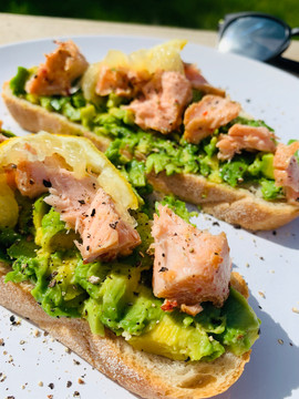 Salmon and Avocado Slices