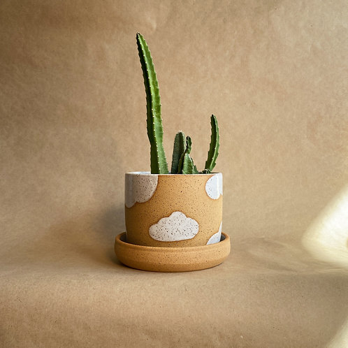 cloudy days planter (w/ drainage)