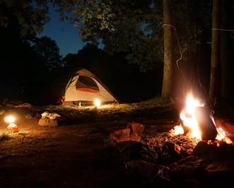 Night Campsite on Location