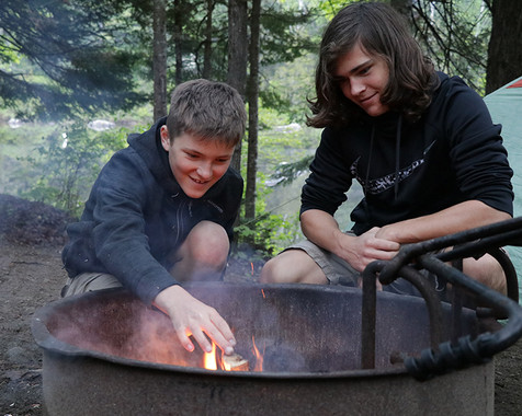Alec and Luther Campfire
