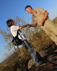 Anti Rhino Poaching Handshake