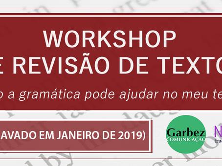 Workshop de Revisão de Textos