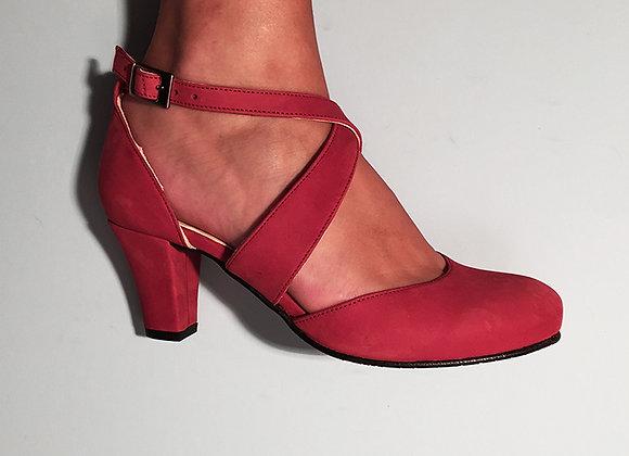 Ida Red Nubuck 5cm