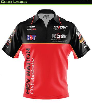 HSV Nation Club Polo zip on Shirt