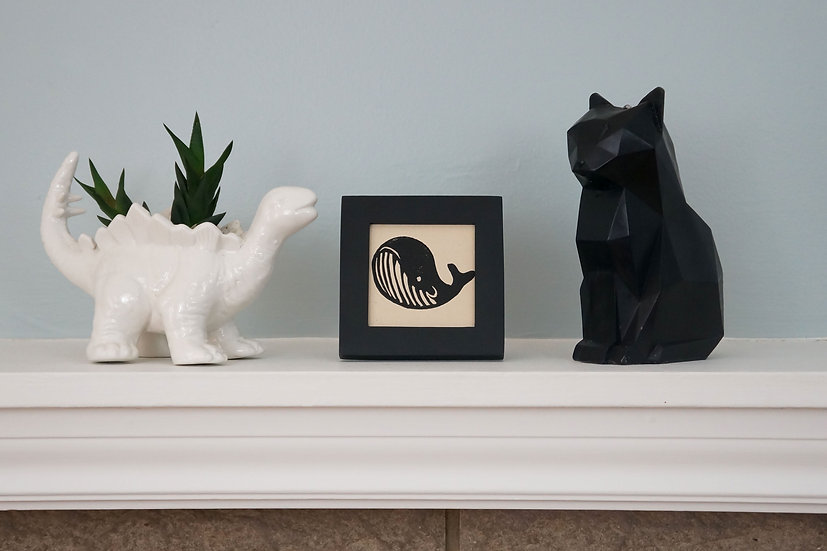 DinoCat - Mini Whale Black Frame