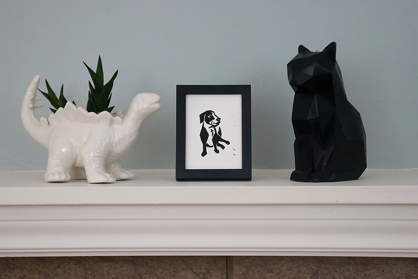 DinoCat - Mini Pup Black Frame