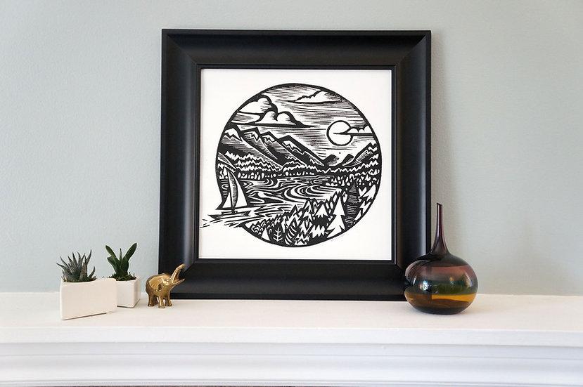 DinoCat - Vancouver Framed