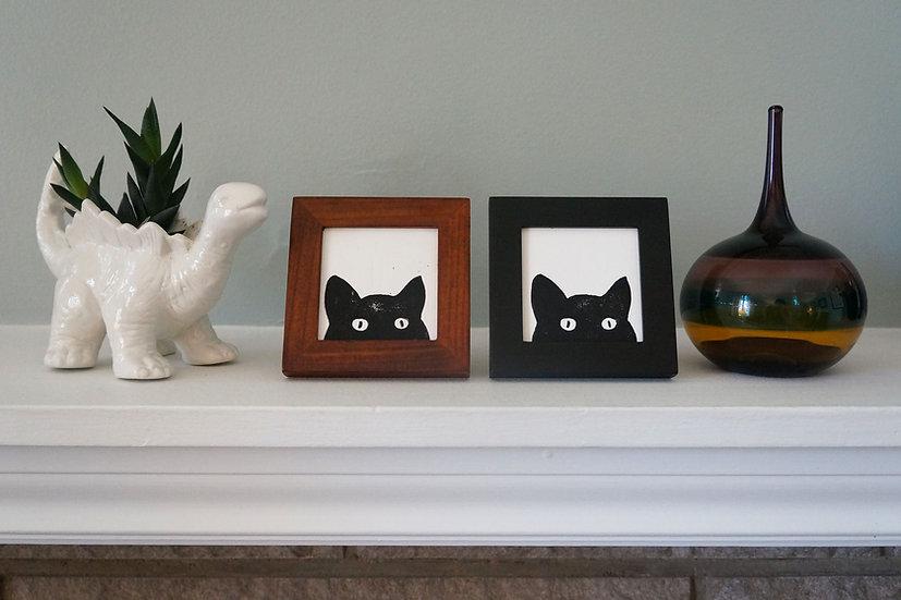 DinoCat - Mini Peeking Cat