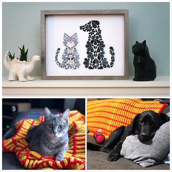 DinoCat - Custom Dog and Cat Portrait