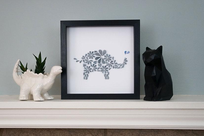 DinoCat - Baby Elephant Black Frame