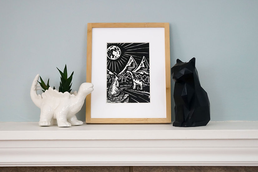 DinoCat - The Land Before Cats Framed