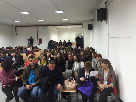 Ceremonia powitalna w Liceo Fermi we Włoszech, z udziałem uczniów Chrobrego