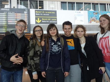 Uczniowie pozdrawiają z Rumunii
