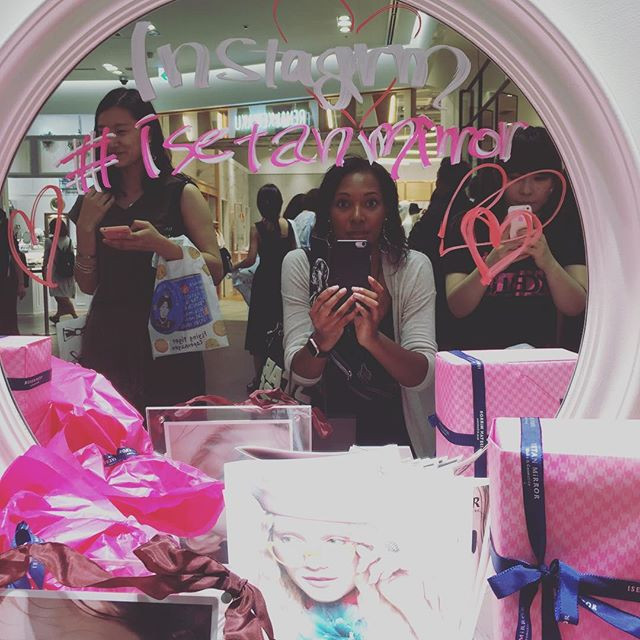 Me in Isetan Mirror's Mirror
