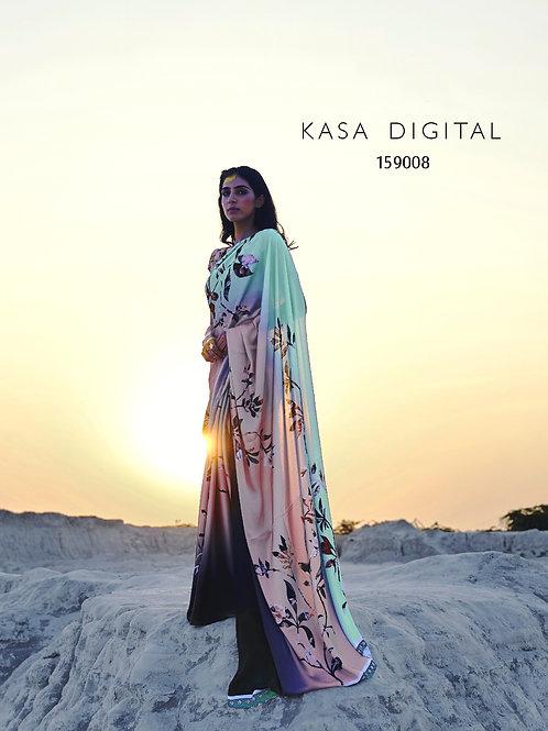 KASA Digital Sun Shine Collection Saanj Saree 159008