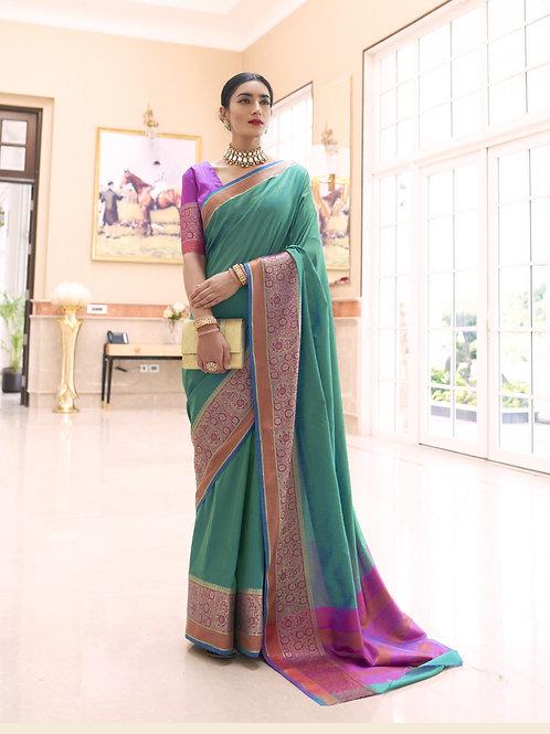 Celebrity - - Kundan Handloom Weaving Silk