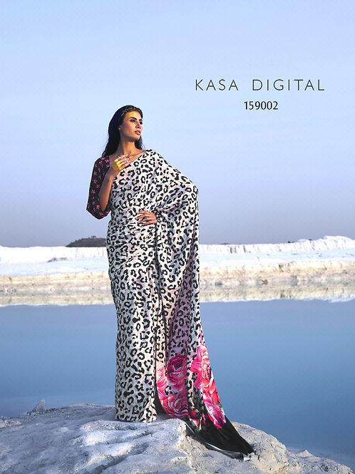 KASA Digital Sun Shine Collection Beauty Spots Saree 159002