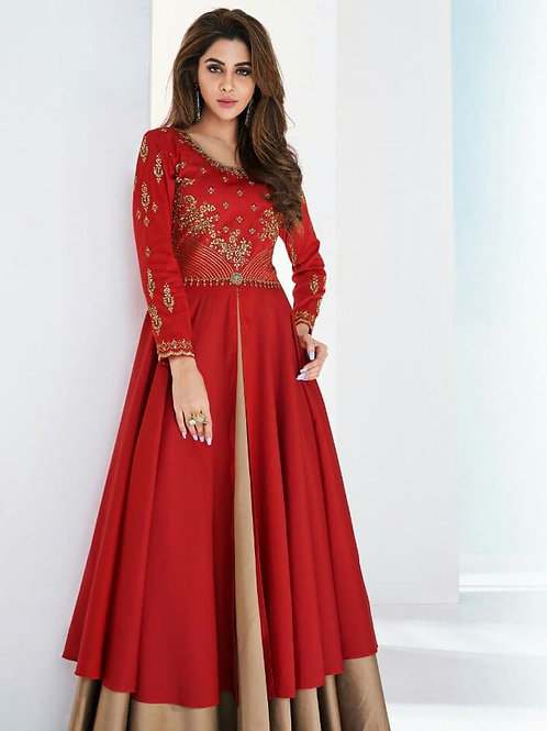 SHANVI - Beautiful Embroidered Red Gown