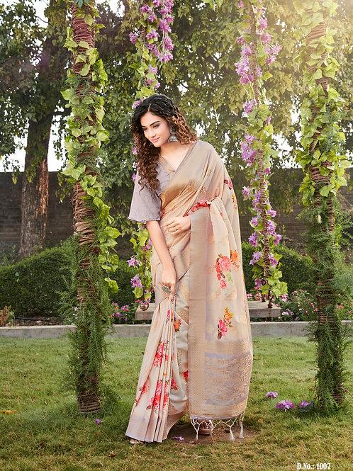 Brightenup by Vrundavan Silk Saree Collection 1007