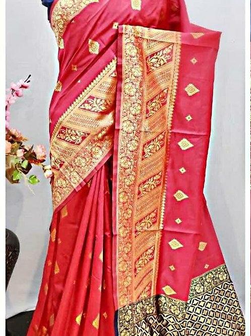 BHARATHI - Banarasi Soft Silk Saree Pink