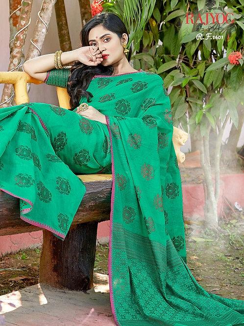 Beautiful Green Saree by Kimaya Silk