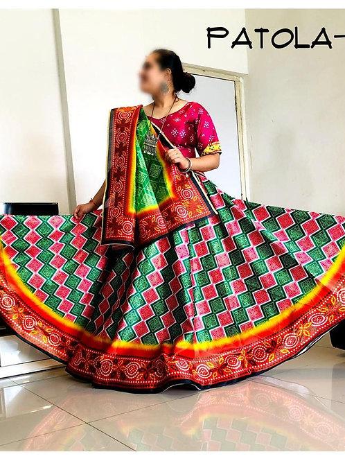 Patola Designer Chundri Style Lehenga