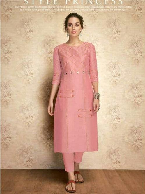 SOUL Collection - Pink Silk Kurti (Only Kurti)