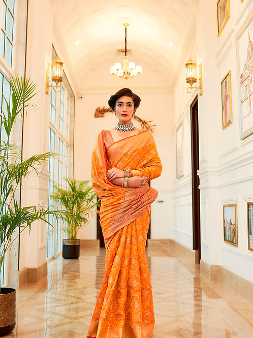 Kimisha Excellency Royal Punch Banarasi Silk Saree