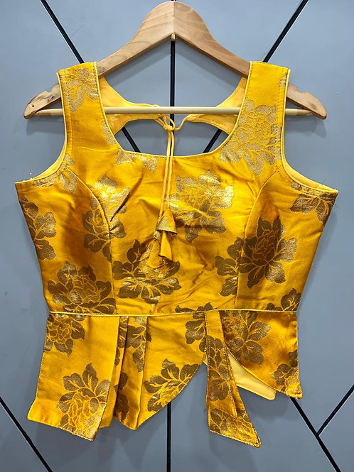 Croptop Style Designer Weaving Blouse 08