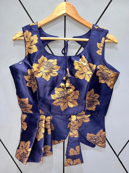 Croptop Style Designer Weaving Blouse 07