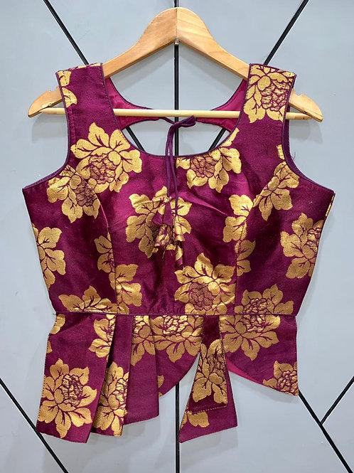 Croptop Style Designer Weaving Blouse 02