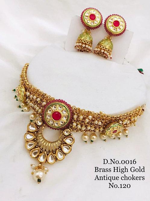 1 Gram Beautiful Choker Necklace Set Dno16